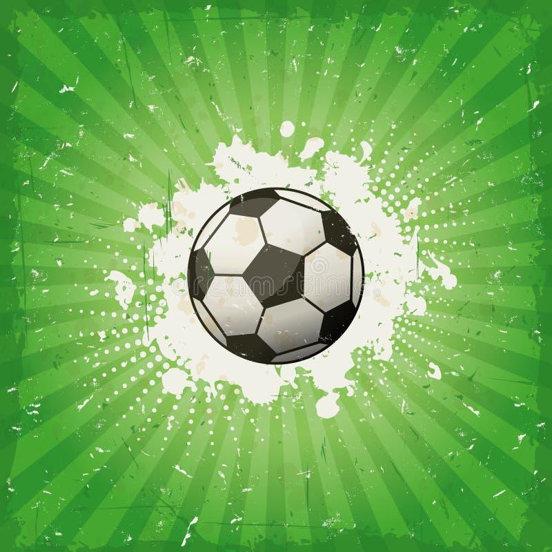 Fondo del fútbol del Grunge ilustración del vector