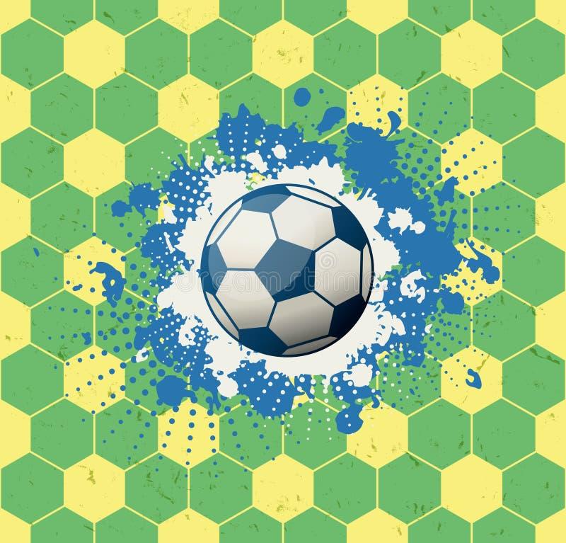 Fondo del fútbol del Grunge stock de ilustración