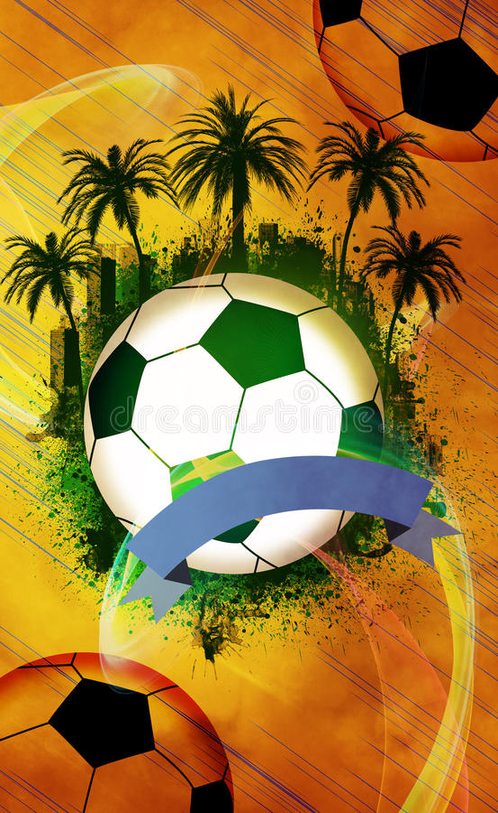 Fondo del fútbol o del fútbol libre illustration