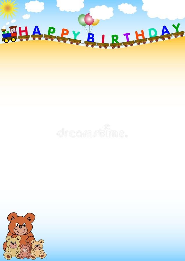 Fondo del feliz cumpleaños ilustración del vector