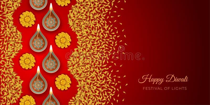 Fondo del festival de Diwali stock de ilustración