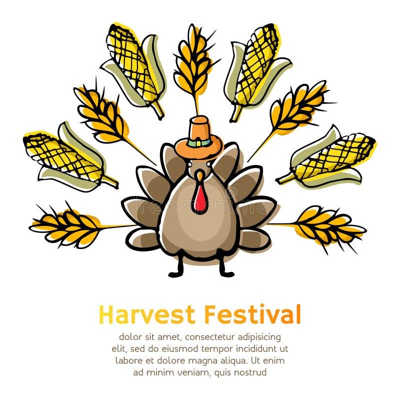 Fondo del festival de la cosecha del otoño stock de ilustración