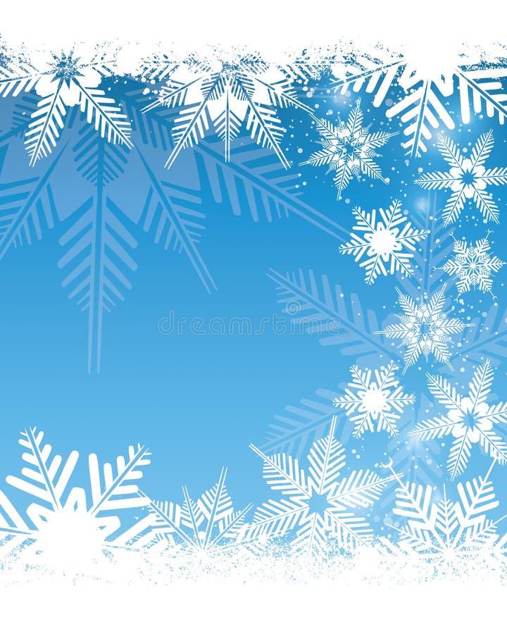 Fondo del fiocco di neve illustrazione di stock