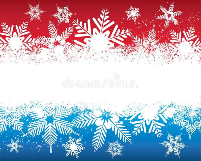 Fondo del fiocco di neve illustrazione vettoriale