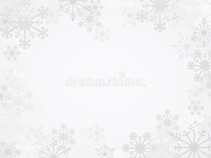 Fondo del fiocco di neve di inverno di vettore illustrazione vettoriale