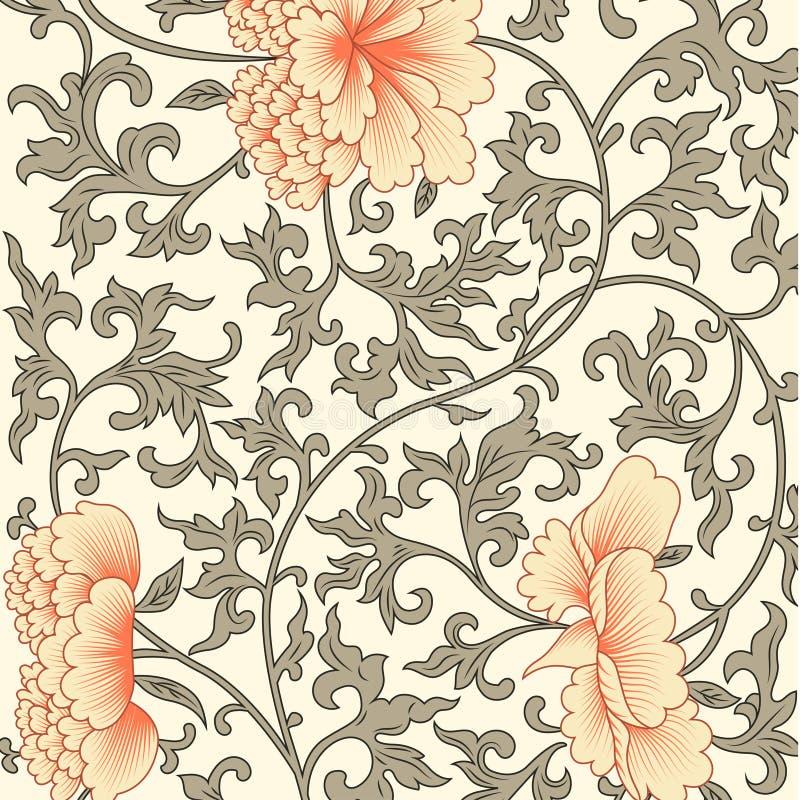 Fondo del fiore nello stile cinese royalty illustrazione gratis
