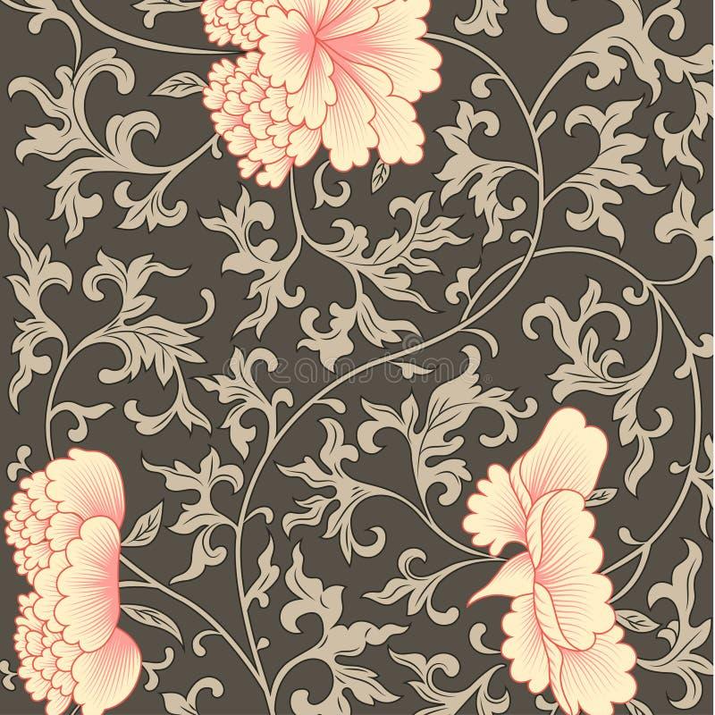 Fondo del fiore nello stile cinese illustrazione vettoriale