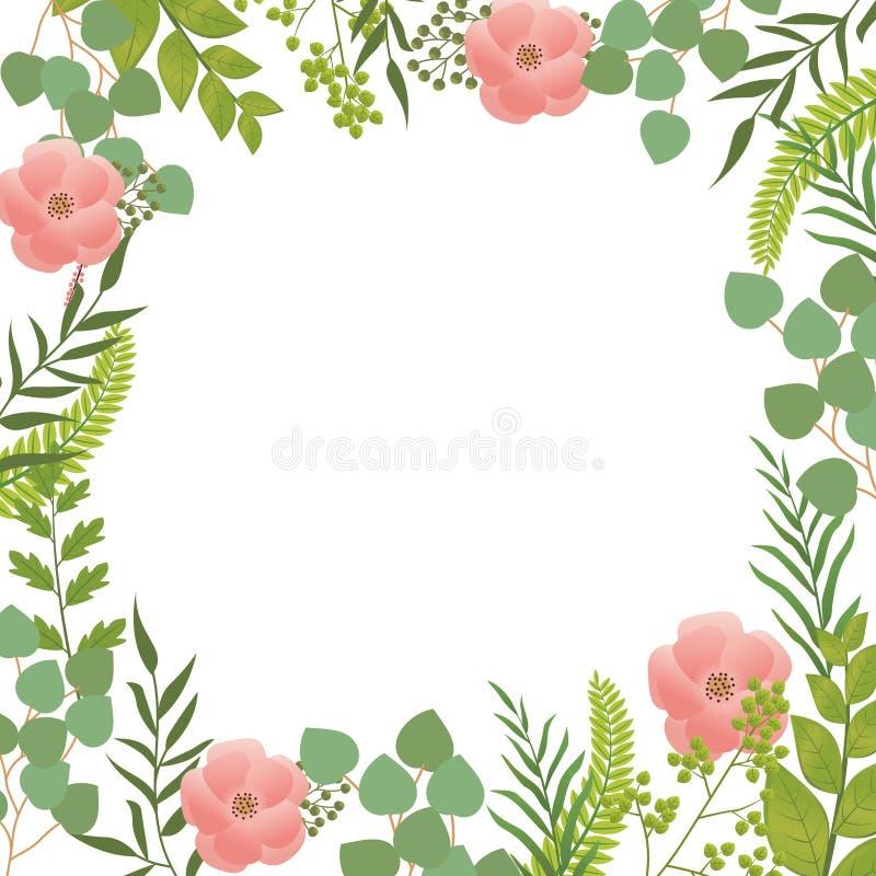 Fondo del fiore, struttura del fiore con le foglie royalty illustrazione gratis