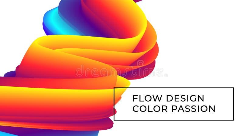 Fondo del flujo del color ilustración del vector