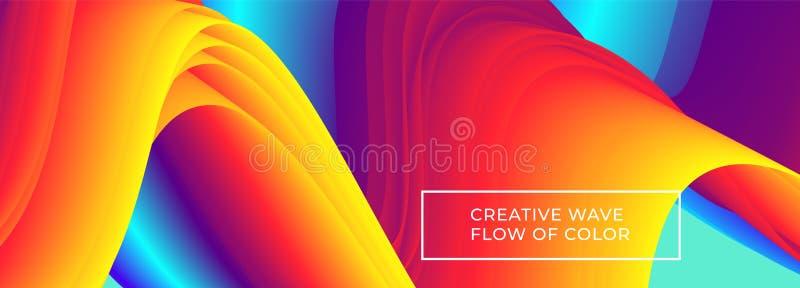 Fondo del flujo del color libre illustration