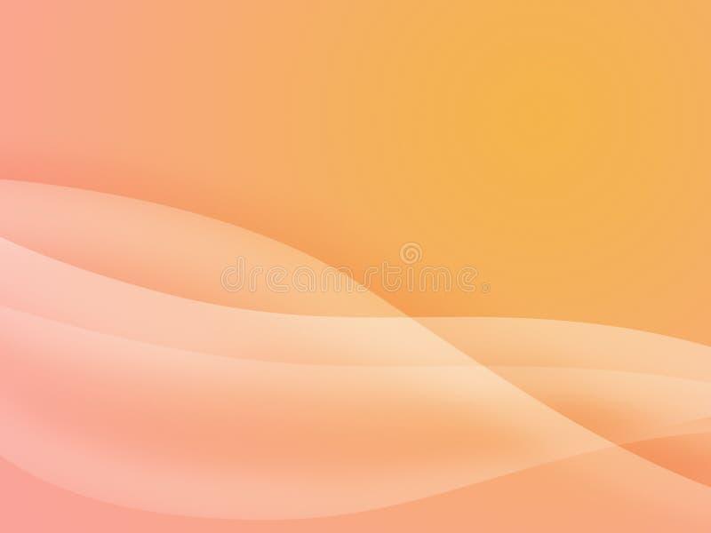 Fondo del flujo de la curva ilustración del vector