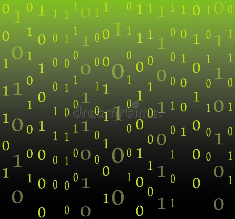 Fondo del flujo del código binario libre illustration