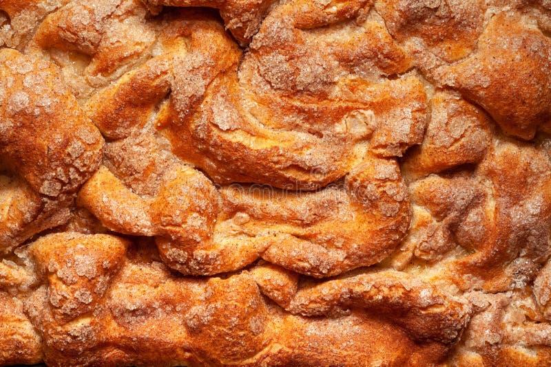 Fondo del forno Primo piano della crosta di torta fotografie stock