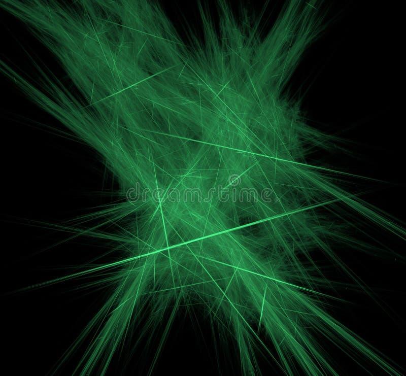 Fondo del fractal de las Líneas Verdes del UFO Textura del fractal de la fantasía Arte de Digitaces representación 3d Imagen orig ilustración del vector