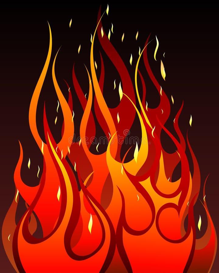 Fondo del fuego stock de ilustración