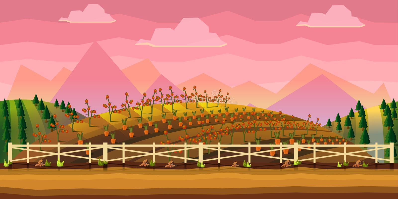 Fondo del gioco dell'azienda agricola royalty illustrazione gratis