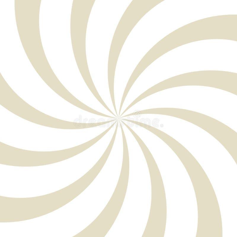 Fondo del giro de la luz del sol fondo beige y blanco de explosión de color Ilustración del vector ilustración del vector