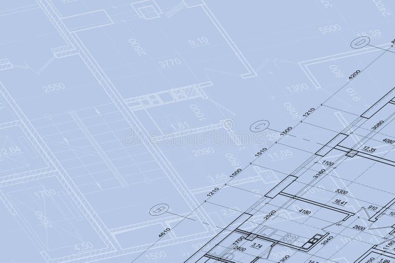 Fondo del gráfico arquitectónico fotos de archivo