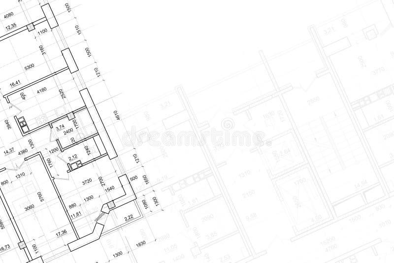 Fondo del gráfico arquitectónico imagen de archivo