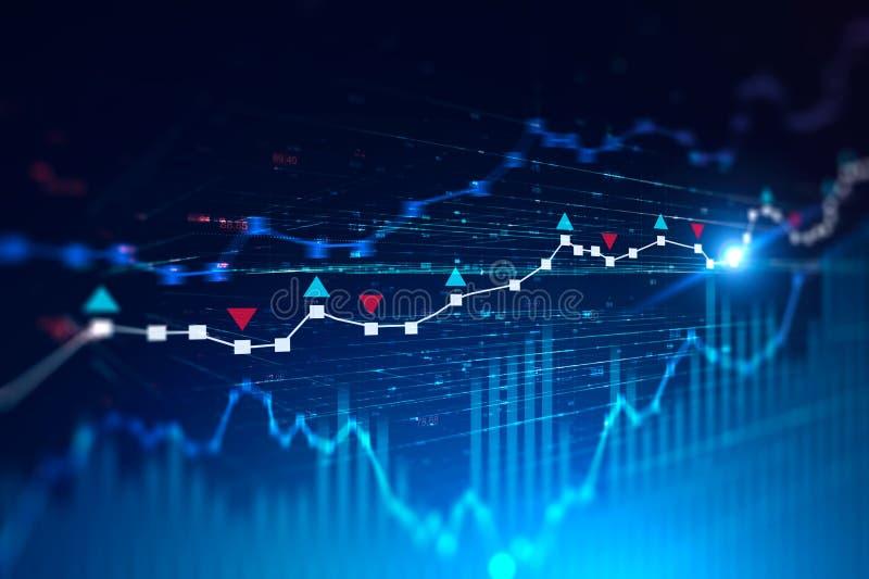 Fondo del gráfico de Digitaces, concepto comercial stock de ilustración
