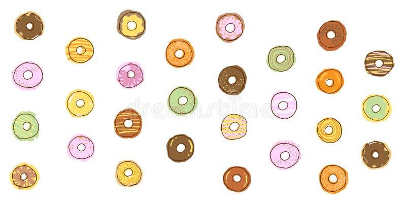 fondo del gráfico del buñuelo stock de ilustración