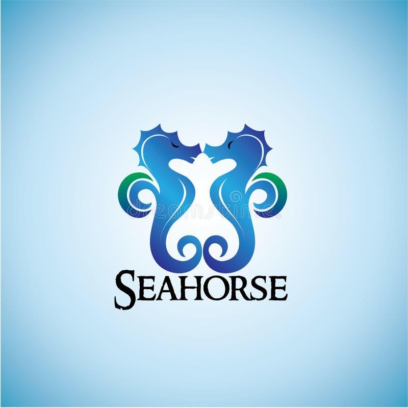 Fondo del gráfico del ejemplo del diseño de las ideas del Seahorse ilustración del vector