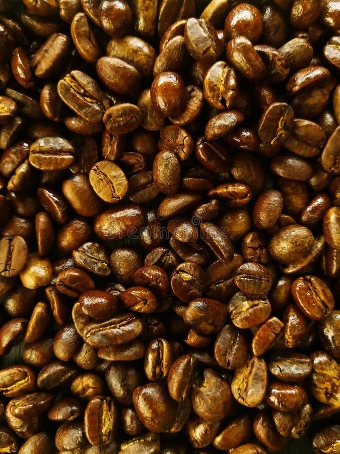 Fondo del grano de café de Brown fotografía de archivo libre de regalías