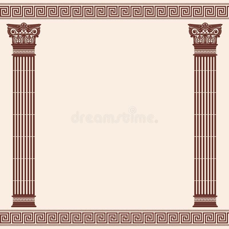Fondo del Griego del vector stock de ilustración