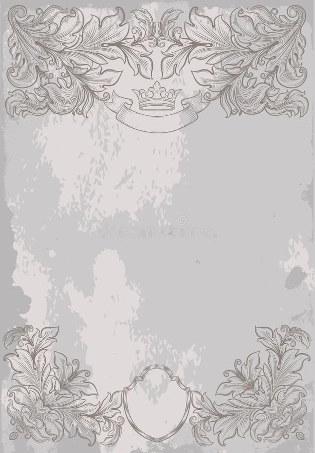 Fondo del gris de la vendimia stock de ilustración