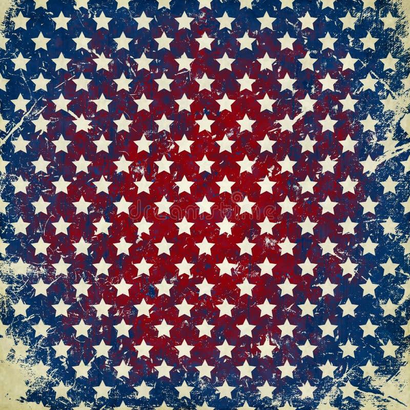 Fondo del Grunge con las estrellas libre illustration