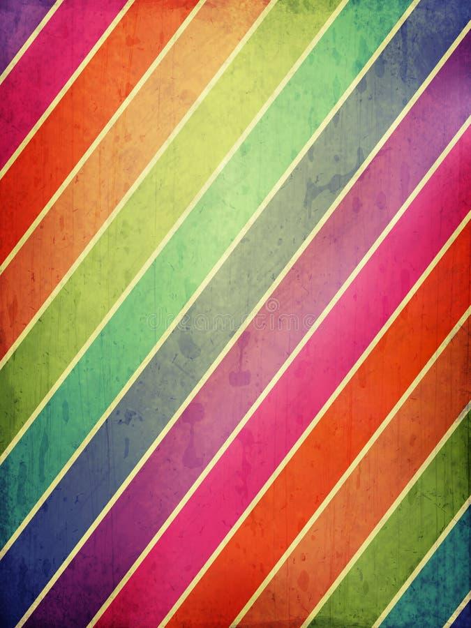 Fondo del Grunge con las rayas coloreadas ilustración del vector