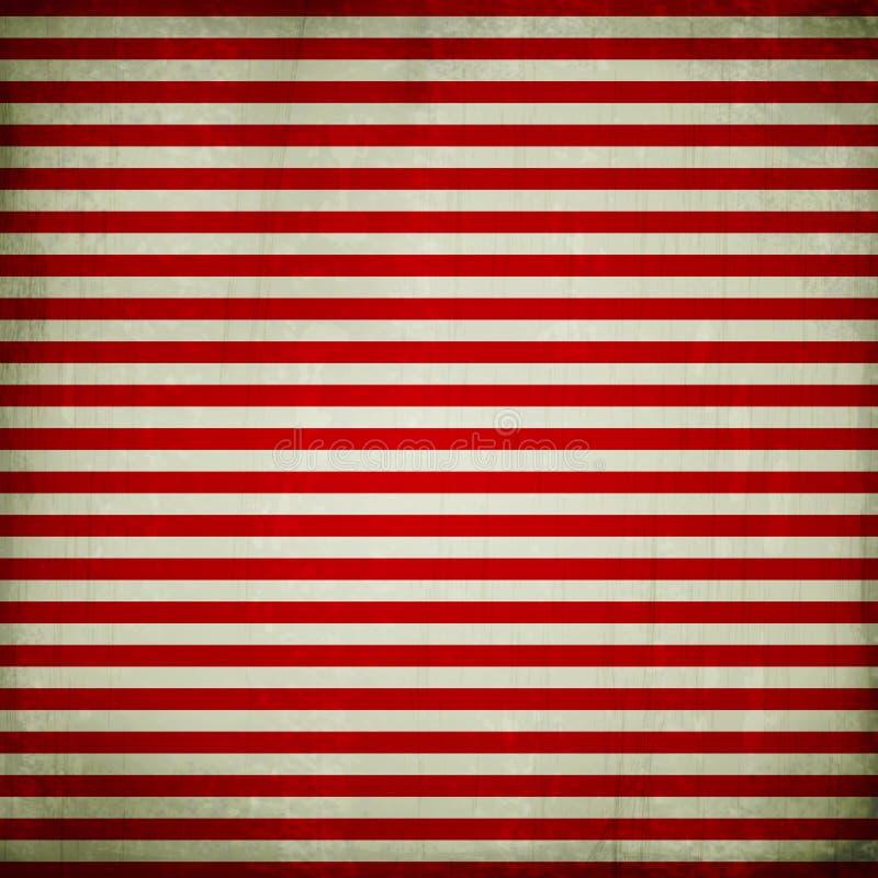 Fondo del Grunge con las rayas rojas stock de ilustración