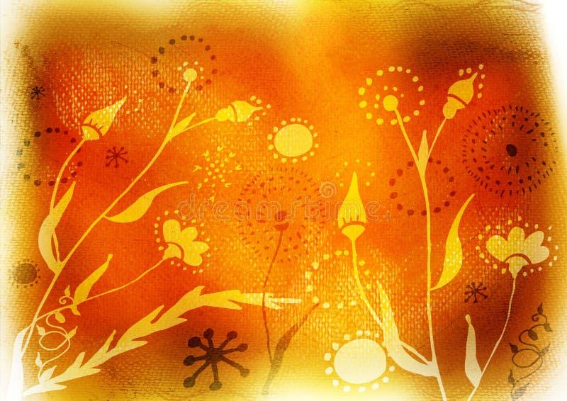 Fondo del grunge de la flor stock de ilustración