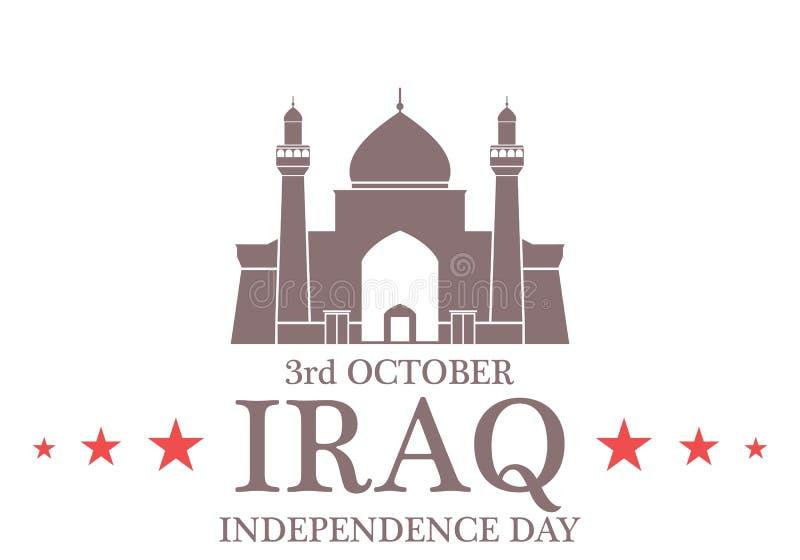 Fondo del grunge de la independencia Day iraq stock de ilustración