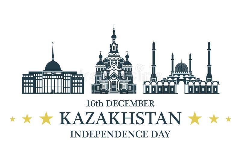 Fondo del grunge de la independencia Day kazakhstan libre illustration