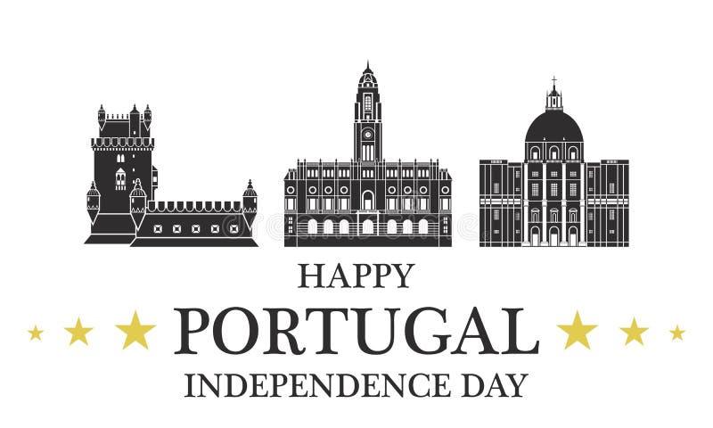 Fondo del grunge de la independencia Day portugal libre illustration