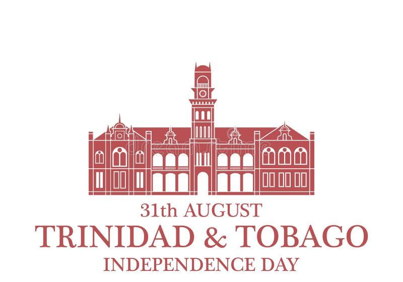 Fondo del grunge de la independencia Day Trinidad And Tobago stock de ilustración