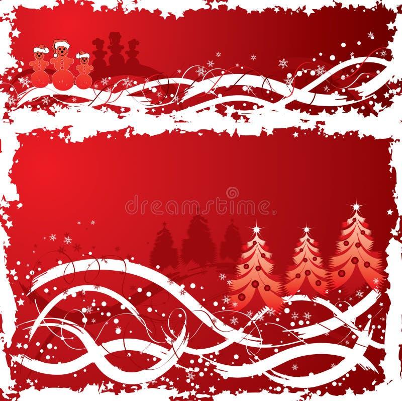 Fondo del grunge de la Navidad, vector ilustración del vector