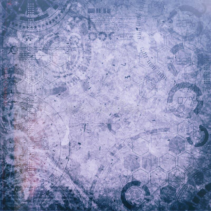 Fondo del grunge de la tecnología de Steampunk, elementos del punky del vapor foto de archivo