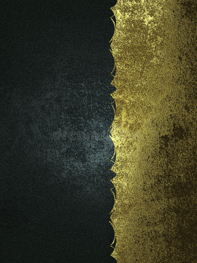 Fondo del Grunge de las texturas del negro y del oro Plantilla para el diseño copie el espacio para el folleto del anuncio o la i libre illustration