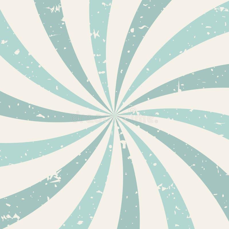 Fondo del grunge de Sunlightspiral azules claros y fondo retro beige ilustración del vector