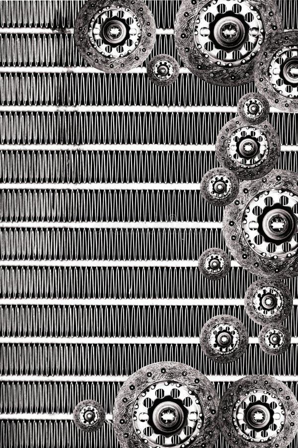 Fondo del grunge del radiador de la placa de embrague ilustración del vector