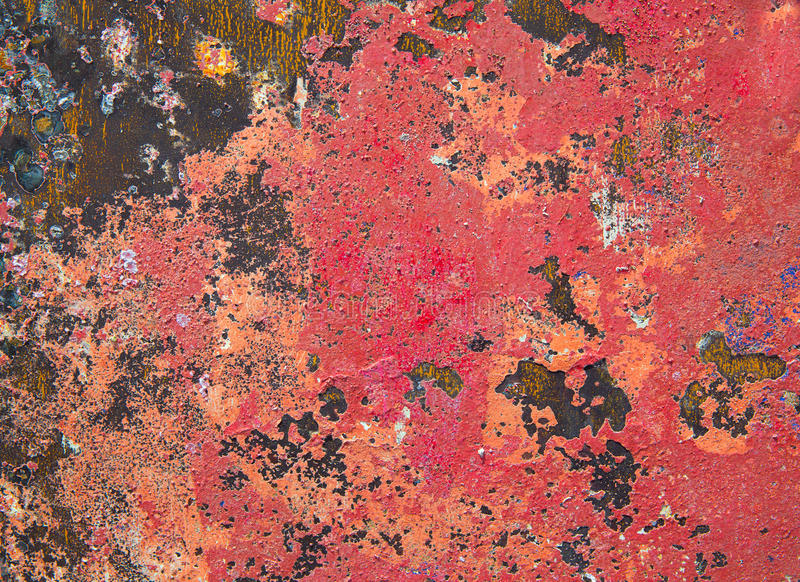 Fondo del Grunge en colorido rojo y oxidado imagen de archivo