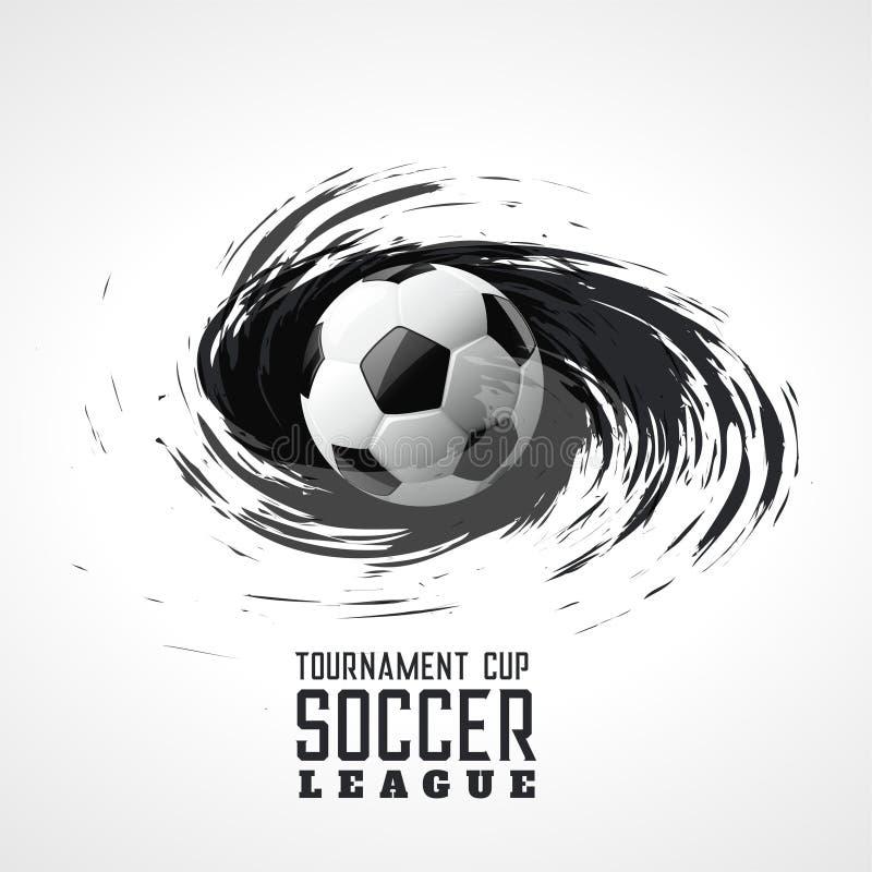 Fondo del grunge del remolino del extracto del torneo del fútbol libre illustration