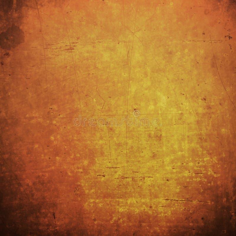 Fondo del grunge y grung anaranjados abstractos del vintage de la acción de gracias fotografía de archivo