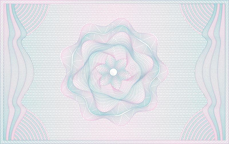 Fondo del guilloquis ilustración del vector