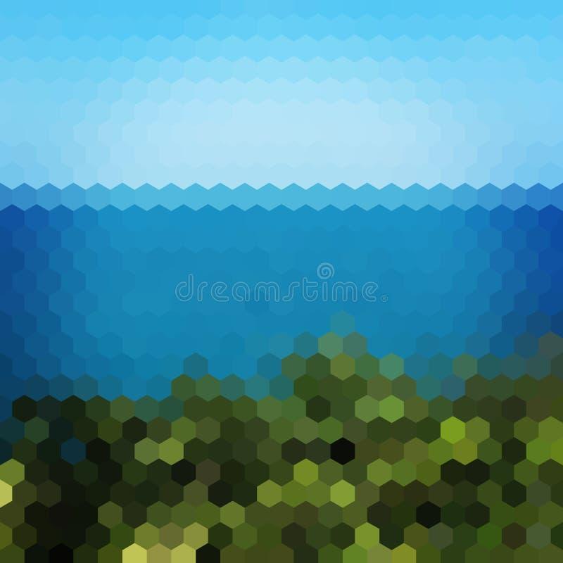 Download Fondo Del Hexágono Del Paisaje Ilustración del Vector - Ilustración de lago, extracto: 41900974