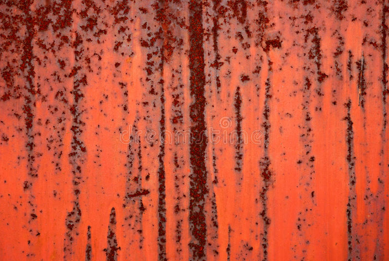 Fondo del hierro pintado rojo imágenes de archivo libres de regalías
