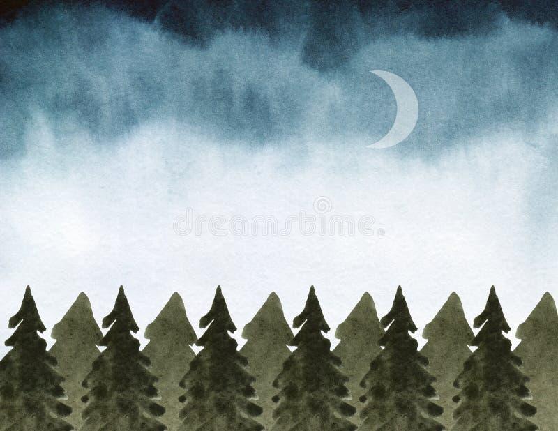 Fondo del humor del bosque libre illustration
