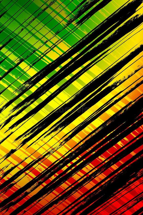 Fondo del illustratio del modelo del extracto del color del arte ilustración del vector